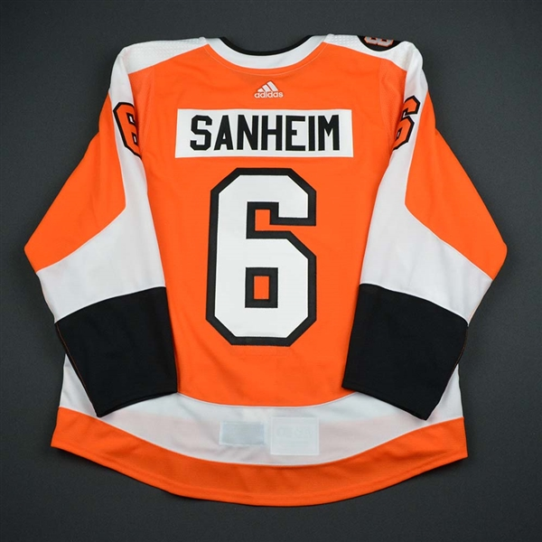 Travis Sanheim - Philadelphia Flyers - Eric Lindros Jersey Retirement Night Game-Issued Jersey