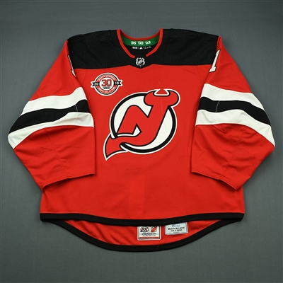 Keith Kinkaid - New Jersey Devils - Martin Brodeur Hockey Hall of Fame Honoree - Game-Worn Jersey - Nov. 13