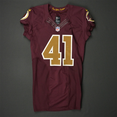 Will Blackmon - Washington Redskins - 2016 Game-Worn Burgundy Throwback  Jersey - Nov. bee657308