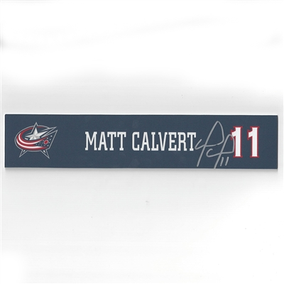 Columbus Blue Jackets 2016-17 Autographed Locker Room Nameplate Auction – Ends 4/13/17