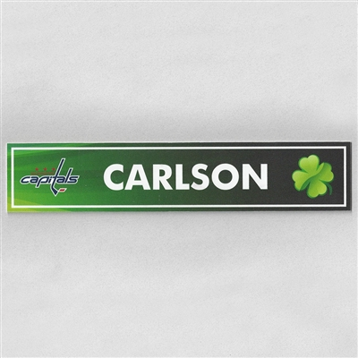 Washington Capitals 2016-2017 St. Patrick's Day Locker Room Nameplate Auction – Ends 4/20/17